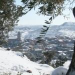 Vistas a Ulldemolins con nieve